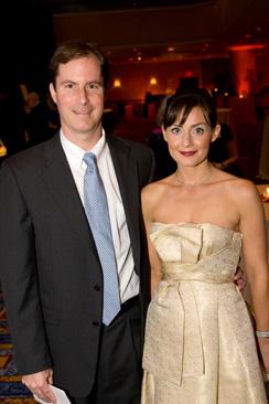 Andy and Hoops at the ball. Credit Drake Mag. com