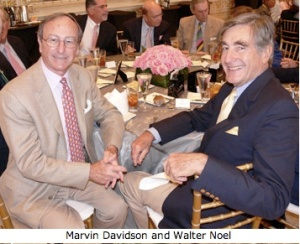 Walt and Marvin Davidson enjoyig a chuckle over Davidson's management of Bear Stearns and Noel's romp through the FGG fund.. Mr. Noel's O.J. blazer, originally $7,500, is available at the