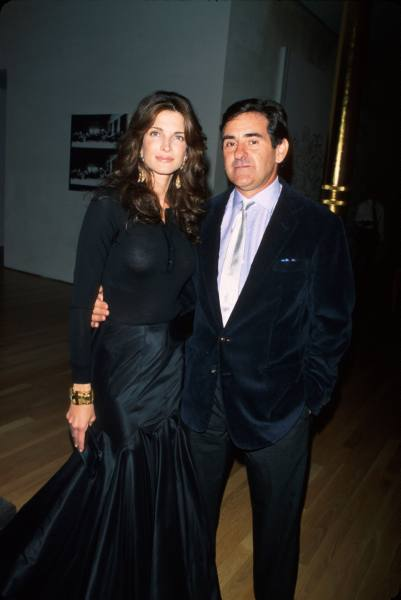 Stephanie Seymour with cool, Husband Peter M. Brant