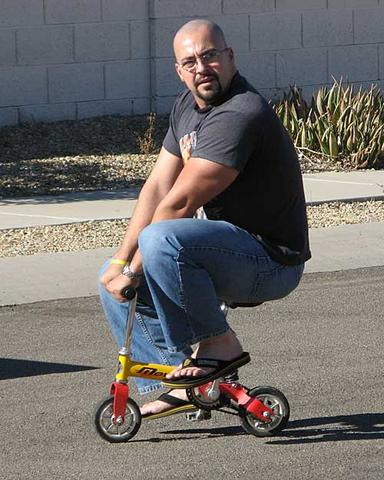 Fat Man On Bicycle 49