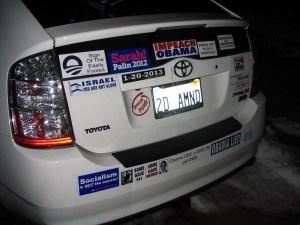 Vandalized Prius