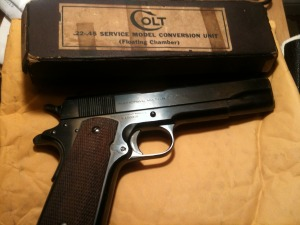 1936 Model 1911A, with  .22 Colt conversion kit