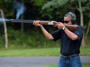 Have (borrowed) gun, will pose