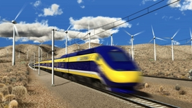 Windmills, desert and an empty train. Poster credit, Calf. Ministry of Education