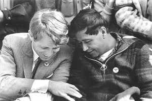 Robert Kennedy and Chavez (Photo by Walt)