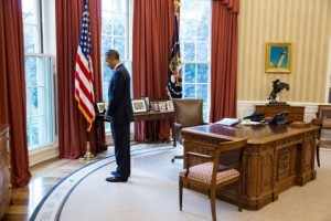 """Message: """"I care"""". Obama releases photo depicting him feeling sorrow."""
