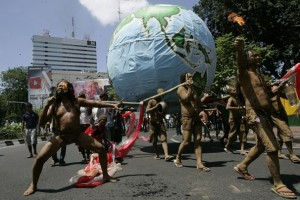 Primitives demonstrate in Washington, Earth Day, 2013