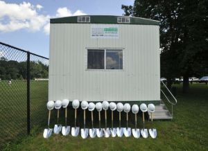 Platinum shovels and hardhats await (photo credit, Jason Rearick)