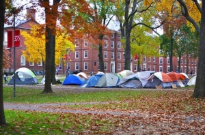 Harvard Yard: the 1% protest the 1%