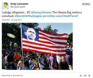 I pledge allegiance to the flag of the Obama State of Amerika