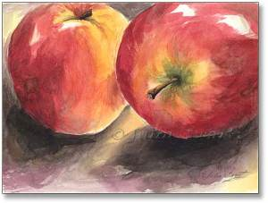 Two_Apples_watercolor_painting_L
