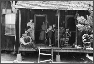 Rye homesteaders await the arrival of Julia B. Fee and her client's sealed bid