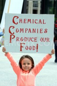 Her parents haven't broken it to her - because they don't know - that she and her food are made up of chemicals