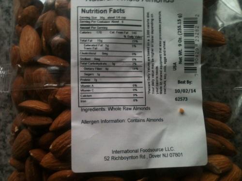 Almond warning