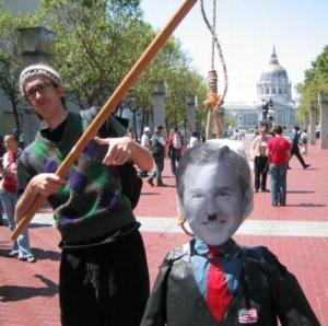 Greenwich Democrat spokesman Dollar Bill visits our nation's capital