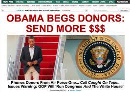 Obama begging