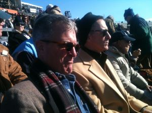 """Brothers Anthony and Gideon discover that there's no replay screens at the Yale Bowl - """"You mean we have to watch?"""""""