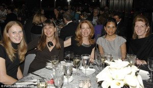 Ingrid Okun (r) at NY society gathering Photo credit: Michelle-Marie Heinemann