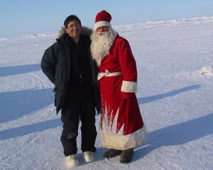 """Andrew Revkin in a sober moment at the North Pole - """"this is SERIOUS"""", damn it!"""