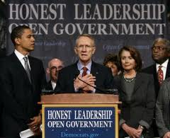 """Obama announces his """"lobbyist rule"""", which is no longer operative."""