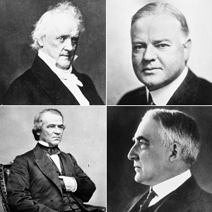 Mt. Mushmore: four worst U.S. presidents, with room for one more