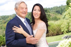 It's good to be richer: George Soros, 82, with new wife Susan, 41, discuss the obligations of the middle class to the poor