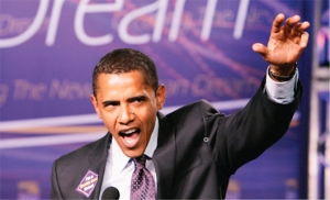 Sept., 2007. Obama at the SEIU action conference