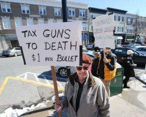 A disgrace to the Huguonaut line, Jonathan Delafield DuBois of Greenwich urges ban on private arms