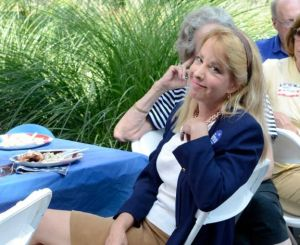 Lee Whitnum enjoys a reflective moment at the Greenwich Democrat campaign clam bake