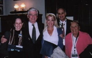 Lee Witnum (3rd from left) celebrating candidacy with Senator Chris Dodd