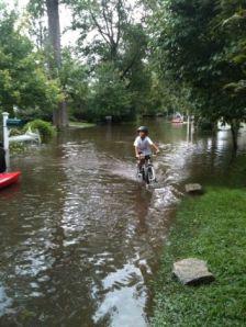 Grimes Road, Hurricane Irene, Sept., 2011