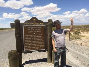 John curses Oliver Lee and the site of the ambush - White Sands, New Mexico