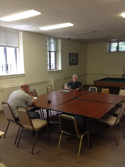 Greenwich Cops await their pensions at the Greenwich Senior Center (anonymous contributor)