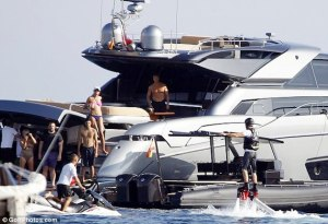 Leonardo, r0 on his jet pack. Toy, yacht, and Mr. DiCaprio himself are all powered by natural gas
