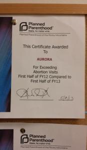Failure to plan award, 2013