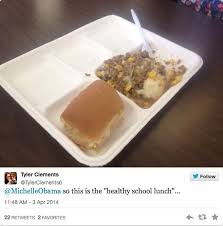 Obama Lunch as served to public school students
