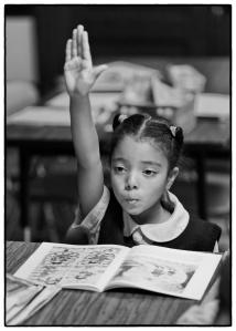Alma Del Mar student salutes her teacher
