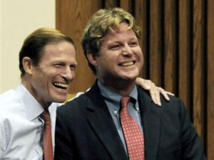 """""""Trust me,you'll make (another) fortune"""" Dick Blumenthal celebrates Teddy's candidacy"""