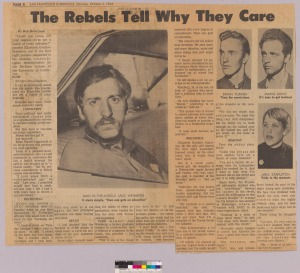 Former Berkley radical, now Old Greenwich dentist, Dr. Ernest Whittle, reflects on Locke