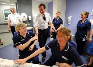 "David Cameron greets Heathrow workers:"" Heck of a job, Brownies"""