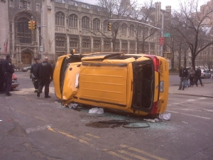 Taxis upended