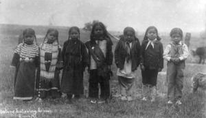 Children dress up as Elizabeth Warren