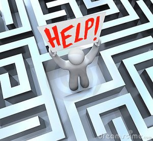 person-labyrinth-maze-holding-help-sign-23724075