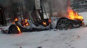 Burning Tesla Norway