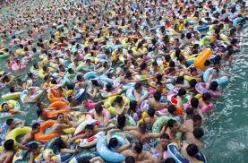 Crowds at the beach