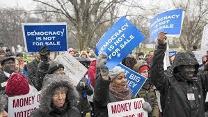 Democrats protest DNC