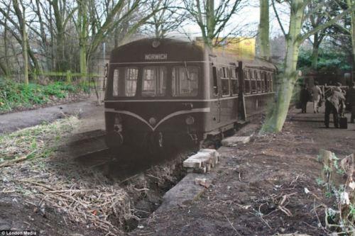 derilct train