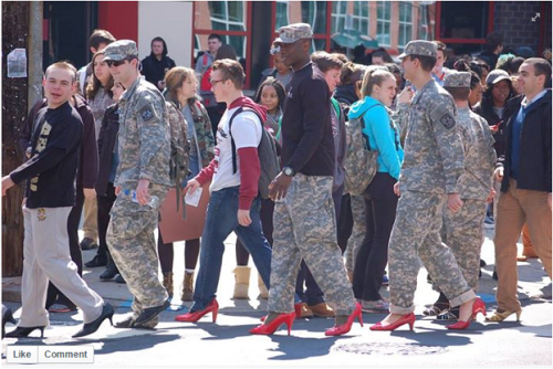 ROTC students in high heels