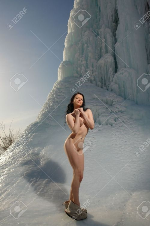 13375329-Naked-girl-on-a-glacier-Stock-Photo-nude-women-woman