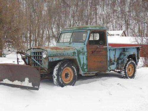 old pickup snowplow cos cob